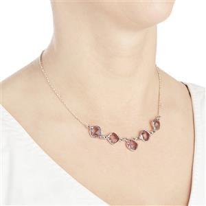 18.56ct Pink Amethyst Sterling Silver Aryonna Necklace
