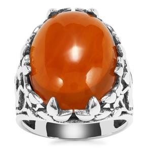 American Fire Opal Ring in Sterling Silver 13.52cts