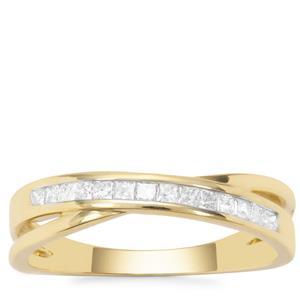 Diamond 'Kiss' Ring in 9K Gold 0.26ct