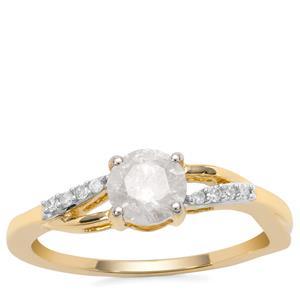 Diamond Ring in 9K Gold 0.78ct