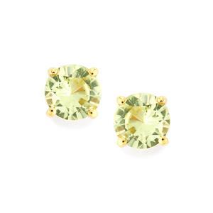 Merelani Mint Garnet Earrings  in 9K Gold 0.85ct