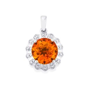 Padparadscha Quartz Pendant in Sterling Silver 4.60cts