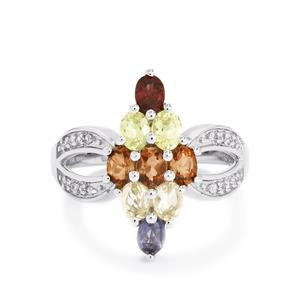 1.70ct Exotic Gems Sterling Silver Ring