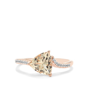 Serenite Ring with White Zircon in 9K Rose Gold 1.65cts