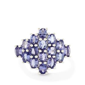 4.04ct AA Tanzanite Sterling Silver Ring