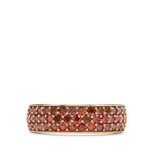 1ct Red Diamond 10K Gold Ring
