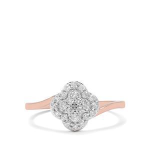 1/3ct Canadian Diamond 9K Rose Gold Tomas Rae Ring