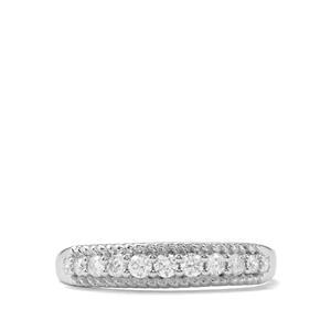 Certified Argyle Diamond Ring in 9K White Gold 0.26ct
