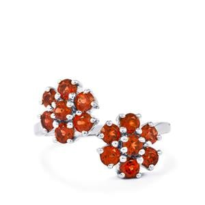 2.03ct Mozambique Garnet Sterling Silver Ring