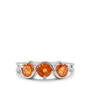 2.52ct Mandarin Garnet Sterling Silver Ring