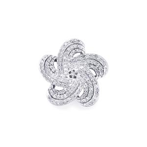 1.05ct Diamond Sterling Silver Pendant