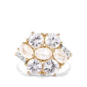 Singida Tanzanian Zircon & Ceylon Sapphire 9K Gold Ring ATGW 6.29cts