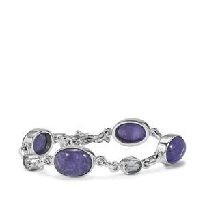 Tanzanite & Sky Blue Topaz Sterling Silver Aryonna Bracelet ATGW 32.40cts