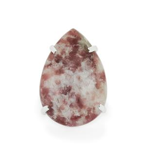 33.97ct Lepidolite Sterling Silver Aryonna Ring