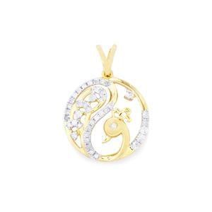 Diamond Pendant  in 9K Gold 0.36ct