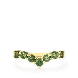 1.04ct Nigerian Blue Sapphire 9K Gold Ring