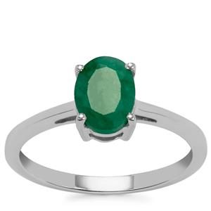Carnaiba Brazilian Emerald Ring in Sterling Silver 1.13cts