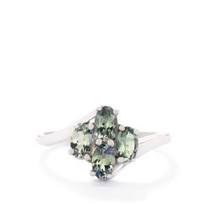 1.08ct Bi-Colour Tanzanite 10K White Gold Ring