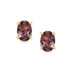 Mahenge Purple Spinel Earrings in 9K Gold 1.63cts