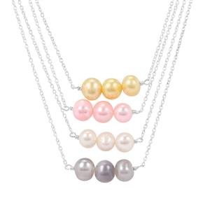 Kaori Cultured Pearl Set of 4 Necklaces in Sterling Silver