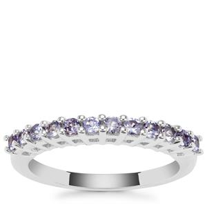 Tanzanite Ring in Sterling Silver 0.66ct
