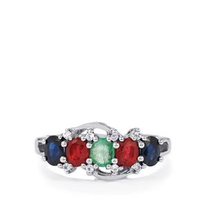 1.80ct Kaleidoscope Gemstones Sterling Silver Ring (F)