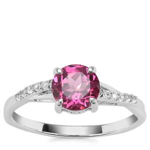 Mahenge Garnet Nora Saul Ring with White Zircon in Sterling Silver 1.79cts