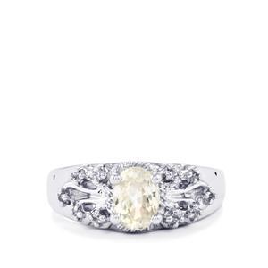 1.40ct Singida Tanzanian Zircon Sterling Silver Ring