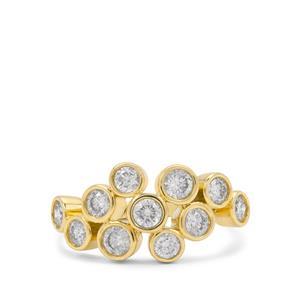 1.20ct Diamond 9K Gold Tomas Rae Ring