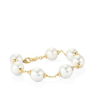 South Sea Cultured Pearl Bracelet in 10K Gold (10mm x 10mm)