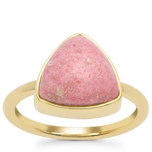 Norwegian Thulite Ring in Gold Plated Sterling Silver 5.88cts