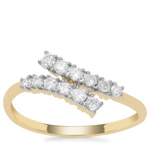 Canadian Diamond Ring in 9K Gold 0.34ct