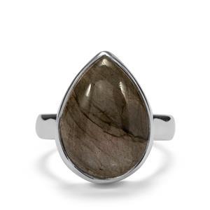 12ct Pink Flash Labradorite Sterling Silver Aryonna Ring
