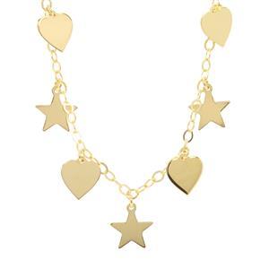 """18"""" Midas Altro Stra- Heart Necklace 3.92g"""