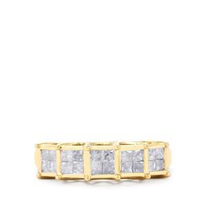 Diamond Ring in 10k Gold 1ct