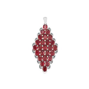 13.73ct Malagasy Ruby Sterling Silver Pendant (F)