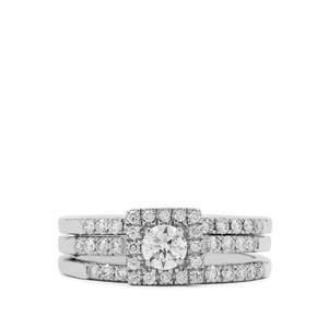 Diamond Ring in Platinum 950 0.89ct
