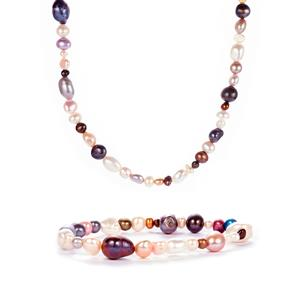 kaori Cultured Pearl Set of Nugget Necklace and Bracelet