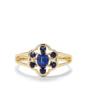Daha Kyanite & Thai Sapphire 9K Gold Ring ATGW 0.85cts
