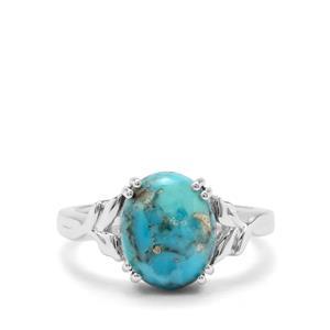 3.71ct Bonita Blue Turquoise Sterling Silver Ring