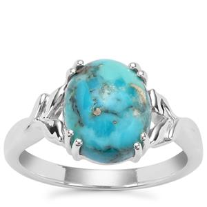Bonita Blue Turquoise Ring in Sterling Silver 3.71cts