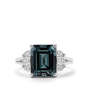 Versailles Topaz Ring with White Topaz in Sterling Silver 5.52cts