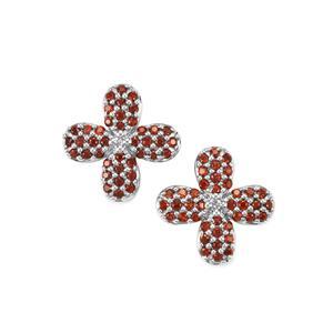 0.82ct Anthill Garnet Sterling Silver Earrings