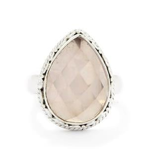 7.86ct Rose Quartz Sterling Silver Aryonna Ring