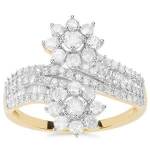 Diamond Ring in 9K Gold 1ct