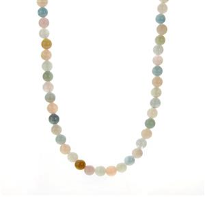 Multi-Colour Beryl Slider Necklace in Sterling Silver 128cts