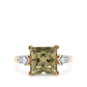 Csarite® & Diamond 18K Gold Lorique Ring MTGW 4.11cts