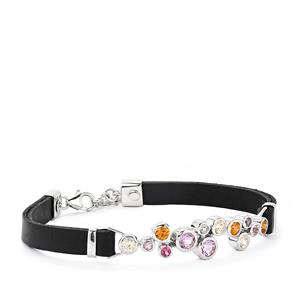 3.84ct Kaleidoscope Gemstones Sterling Silver Bracelet