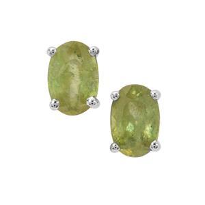 Ambilobe Sphene Earrings in Sterling Silver 1.58cts