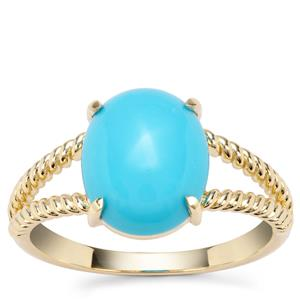 Sleeping Beauty Turquoise Orbs of Light Ring in 9K Gold 2.87cts